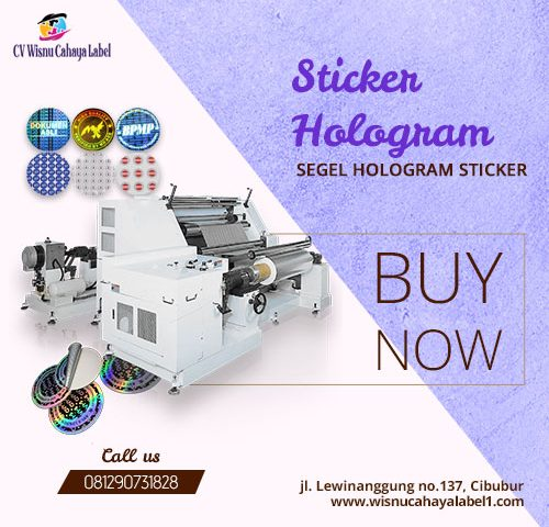 segel hologram sticker