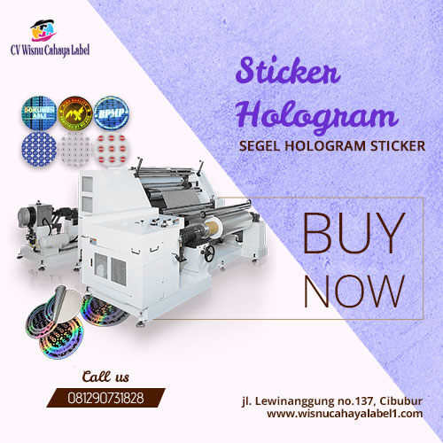 segel hologram sticker